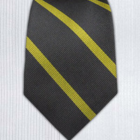 Trad Stripe - Charcoal/Yellow (Skinny) || Ties - Wear Your Good Tie. Every Day Ties - Wear Your Good Tie. Every Day