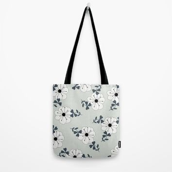 Delicate Flowers Pattern Tote Bag by oursunnycdays