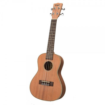 "23"" Exquisite Matte Concert Ukulele with Decorative Edge and Rosewood Fingerboard Burlywood"
