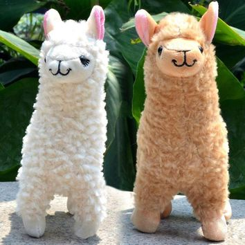 Cute Camel Cream Llama Alpaca Plush Toy Kids Gift Stuffed Animal Baby Doll