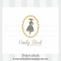 OOAK Premade Logo Design - Elegant Woman Silhouette - Perfect for a vintage clothing shop or a fashion designer