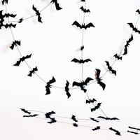 Halloween decorations - Bat halloween garland