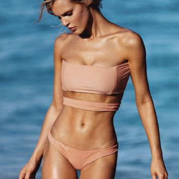 Gigi Top x Madison Bottom Bikini Separates (Nude Rib)
