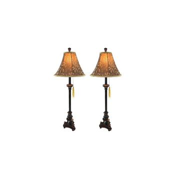 Aspire Eleanor Buffet 31'' H Table Lamp with Bell Shade (Set of 2)