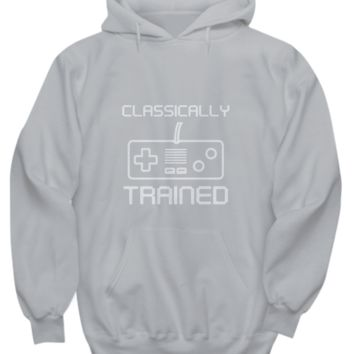 Classically Trained Video Game Controller Gamer Sweater Hoodie