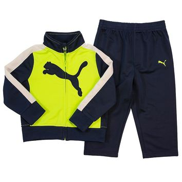 PUMA Big Cat Logo Tricot Track Jacket & Pants Set - Toddler Boy, Size:
