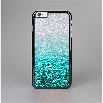 The Aqua Blue & Silver Glimmer Fade Skin-Sert for the Apple iPhone 6 Plus Skin-Sert Case