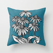 Summer Night Throw Pillow by lush tart | Society6