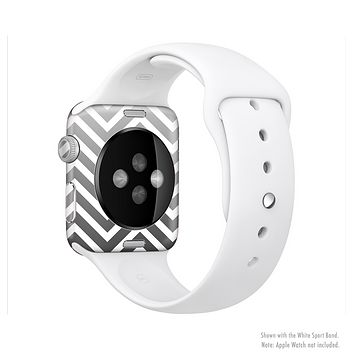 The White & Gradient Sharp Chevron Full-Body Skin Kit for the Apple Watch