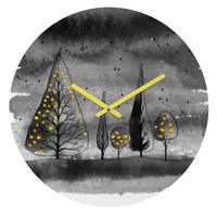 Deniz Ercelebi Lit Up Round Clock