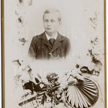 Cabinet Card Photo Memorial Death Young Suited Boy, Deton Cornand Anvers Antwerp | eBay