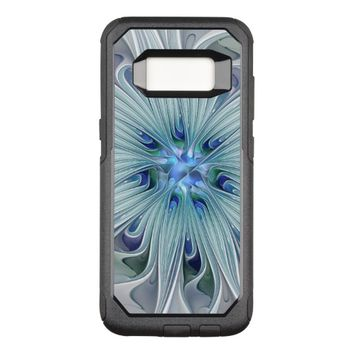 Floral Beauty Abstract Modern Blue Pastel Flower OtterBox Commuter Samsung Galaxy S8 Case