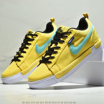 NIKE Air Force 1 Duckboot Low Tide brand men's and women's low-cut casual sports shoes Yellow