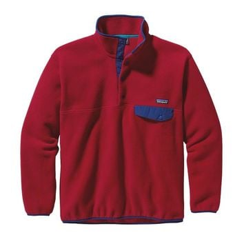Patagonia Men's Synchilla® Snap-T® Fleece Pullover | Classic Red