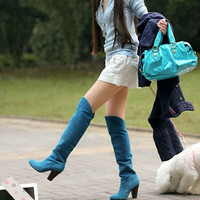 Over-the-Knee Nubuck Boots