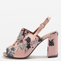 MELINA Slingback Block Heels - Shoes