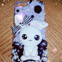 Pastel goth bunny purple and black iPhone 7 case