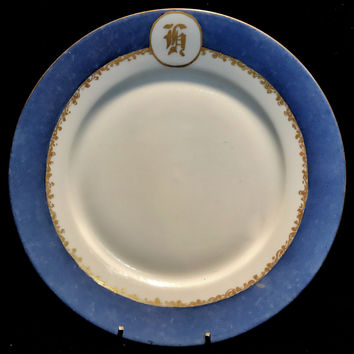 Haviland France Porcelain Dinner Plate Signed & Dated 1920