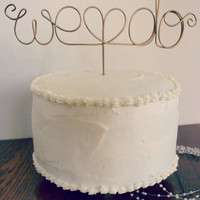 Wedding Cake Topper - Custom Wire Love - We Do