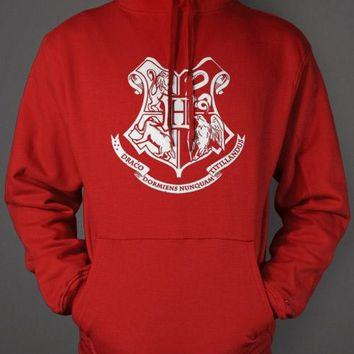 Hogwarts House Crest Hoodie - Harry Potter Red Sweatshirt