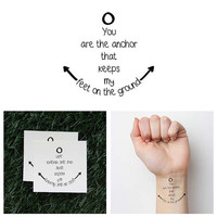 Foundation - Temporary Tattoo (Set of 2)