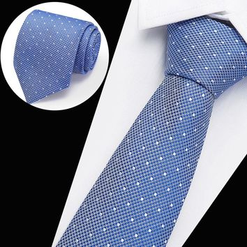 Vangise  Neck Ties for Men 7.5cm SKinny Polyester Silk Neckties Dot Print Business Neckwear Corbatas Wedding Suits Gravatas