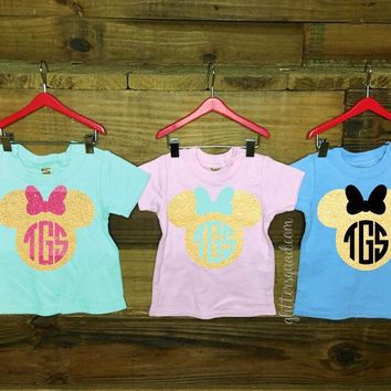 CLEARANCE Baby Tee Minnie Mouse Monogram / Minnie Mouse Tee /