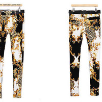 Designer Celerity Leopard Pattern Skinny Long Pants Jegging