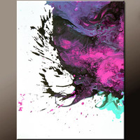 Abstract Art Canvas Painting 18x24 Contemporary Wall Art Paintings by Destiny Womack - dWo - Nightfall