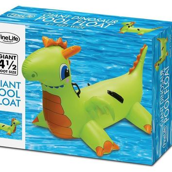 Giant Dinosaur Outdoor Inflatable Pool Water 4 1/2  Ft Toy Floats Rafts