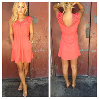 Rose Cut out Carley Dress with Pockets