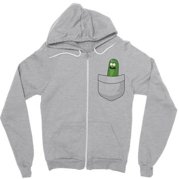 Pocket Pickle Rick Zipper Hoodie