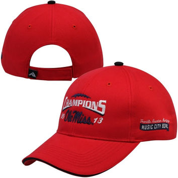 Mississippi Rebels 2013 Music City Bowl Champions Adjustable Hat - Red - http://www.shareasale.com/m-pr.cfm?merchantID=7124&userID=1042934&productID=555859385 / Ole Miss Rebels