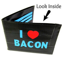 I love Bacon Duct Tape Wallet by TimmNicole on Etsy