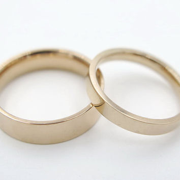 2pcs,rose golden ring,couple ring set, his and her promise rings, best friend rings, sister rings, friendship rings, free engraving