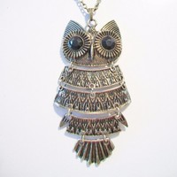 eBlueJay: Owl Pendant Necklace Articulated Design Fashion Jewelry Accessories For Her