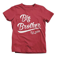 Shirts By Sarah Boy's Big Brother Est. 2017 T-Shirt Promoted To T-Shirt