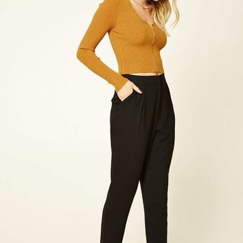 Contemporary High-Rise Trousers