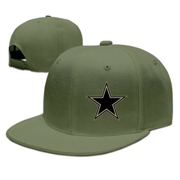 Dallas Cowboys Salute To Service Logo Printing Unisex Adult Womens Hip-hop Caps Mens Flat Brim Hats