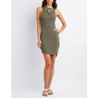 Ribbed Scoop Neck Sleeveless Dress