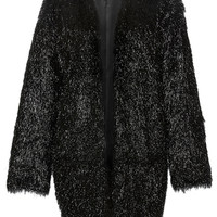 Lamé Three Quarter Length Sleeve Coat | Moda Operandi