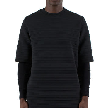 LINEAR SHORT SLEEVE SWEATSHIRT
