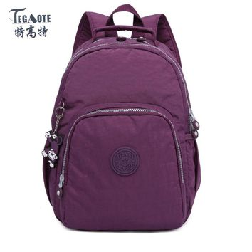 TEGAOTE Backpack for Teenage Girls Mochila Feminine Small Backpack Female Solid Famous Casual Women Travel Backpack bolsa