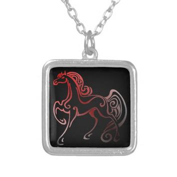 Horse Tails Silver Plated Necklace