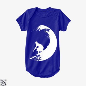 Catch A Wave, Surfing Baby Onesuit