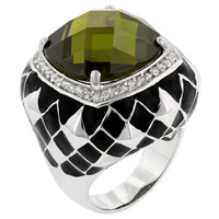 Olive Jester Cocktail Ring, size : 09