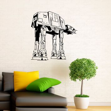 Walkers AT-AT Wall Decal Vinyl Stickers Star Wars Home Interior Art Design Murals Bedroom Wall Decor Made in US