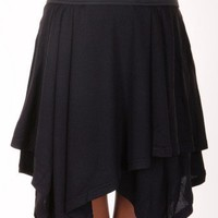BLACK ASYMMETRICAL SKIRT @ KiwiLook fashion