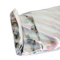 Holographic Roll Up Clutch Bag