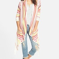 Junior Women's Billabong 'Loosen Up' Open Cardigan,